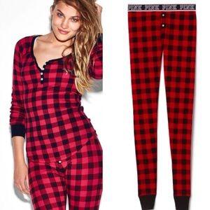 PINK Victoria's Secret plaid pajama set